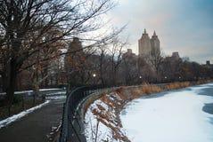 Central Park en invierno, New York City Imagen de archivo libre de regalías