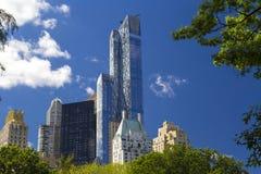 Central Park en van Manhattan horizon in de Stad van New York, de V.S. Stock Foto