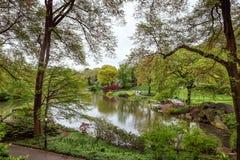 Central Park en van Manhattan Horizon in NYC Royalty-vrije Stock Foto