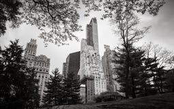 Central Park en van Manhattan Horizon in NYC Royalty-vrije Stock Fotografie
