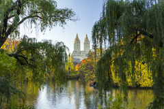 Central Park Fall Landscape in New York City Stock Image