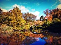 Central Park at fall Stock Photos