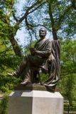 Central Park fitz greene halley statue New York Stock Photo