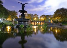 Central Park Fountain Stock Images