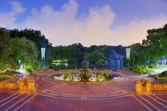 Central Park Fountain Royalty Free Stock Image