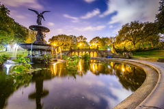 Central Park Fountain Royalty Free Stock Photo