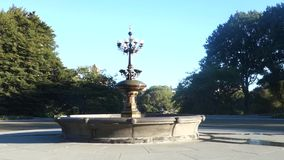 New York City Fountain stock video footage