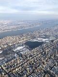 Central Park från 10000 fot Royaltyfria Foton