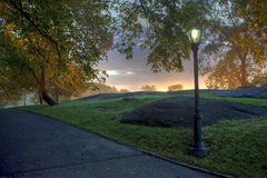 Central Park, früher Fall lizenzfreie stockfotos