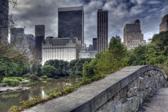 Central Park Gapstow bridge Royalty Free Stock Photos