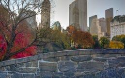 Central Park Gapstow bridge Stock Images