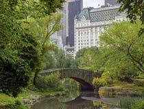 Central Park Gapstow bridge Stock Photos