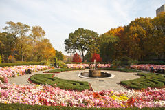 Central Park Garden. In autumn Royalty Free Stock Photos