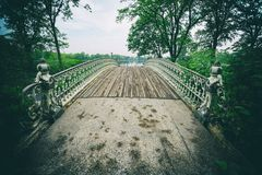 Central Park Gothic Bridge New York City Stock Photography