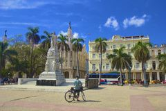 Central park in Havana, Cuba Royalty Free Stock Photo