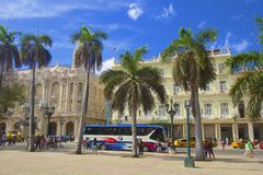 Central park in Havana, Cuba Stock Photography