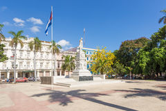 The Central Park of Havana and the Jose Marti monument Royalty Free Stock Image