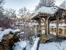 Central Park, heller Schnee Wagner Coves stockfotos