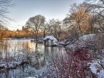 Central Park, heller Schnee Wagner Coves lizenzfreie stockfotografie