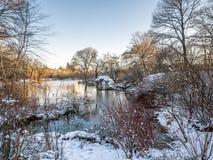Central Park, heller Schnee Wagner Coves stockfotografie