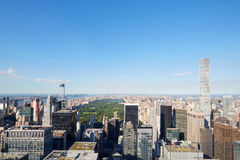 Central Park, high and wide angle view in New York Stock Images