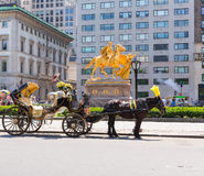 Central Park horse carriage rides in New York Stock Image