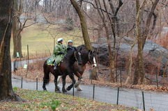 Central Park Horse Patrol Royalty Free Stock Images