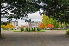 Central Park i Joensuu, Finland royaltyfri bild