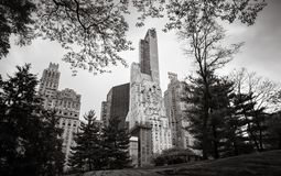 Central Park i Manhattan linia horyzontu w NYC Fotografia Royalty Free