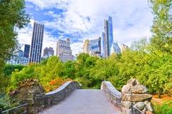 Central Park i New York City i höst Arkivfoton