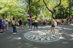 Central Park i New York City NYC Arkivfoto