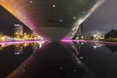 Central Park i Songdo den internationella affären incheon Sydkorea Royaltyfria Bilder
