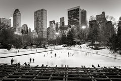 Central Park Ice skating, Wollman Rink, New York City Stock Photos
