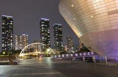 Central Park in internationalem Geschäft Incheon Südkorea Songdo Lizenzfreie Stockfotos