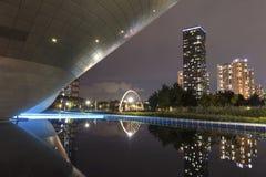 Central Park in internationalem Geschäft Incheon Südkorea Songdo Stockbilder