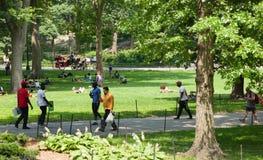 Central Park ist ein allgemeiner Park in der Mitte von Manhattan stockfoto