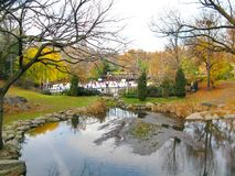 Central Park and its beautiful colors in Autumn and Winter. New Royalty Free Stock Photography