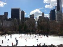 Central Park jazda na łyżwach lodowisko Obraz Royalty Free