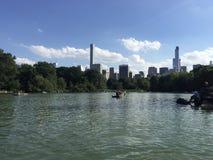 Central Park jezioro Zdjęcia Royalty Free