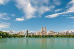 Central Park jezioro Obrazy Stock