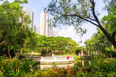 Central Park Kowloon. Hong Kong. China. Royalty Free Stock Images