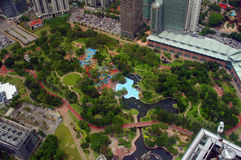 Central park of Kuala-Lumpur. High view of Central park of Kuala-Lumpur city, Malaysia Stock Image