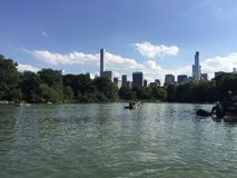 Central Park Lake Royaltyfria Foton