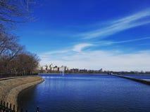 Central Park Lake arkivbilder
