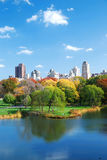 Central Park lake Autumn Stock Image