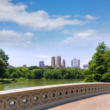 Central Park The Lake Bow Bridge New York Royalty Free Stock Photos