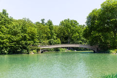 Central Park The Lake Bow Bridge New York Royalty Free Stock Images