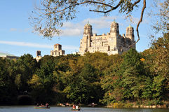Central Park Lake Manhattan in Manhattan New York City Stock Photo