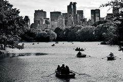 Central park lake in Manhattan New York Stock Photo