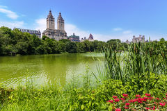 Central Park The Lake Manhattan New York Stock Image